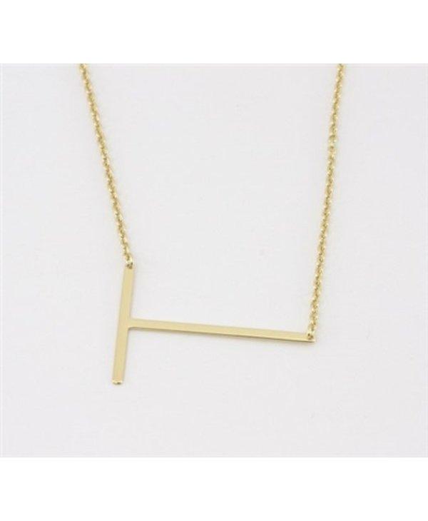 Medium Initial T Necklace