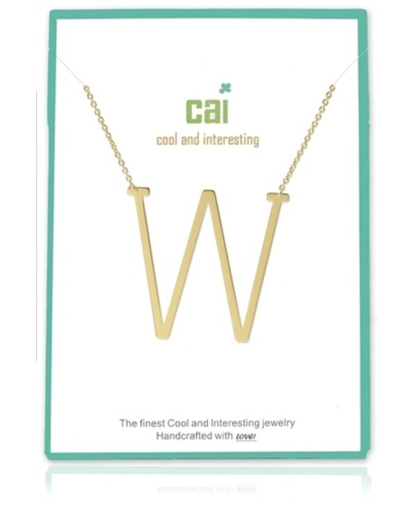 Medium Initial W Necklace