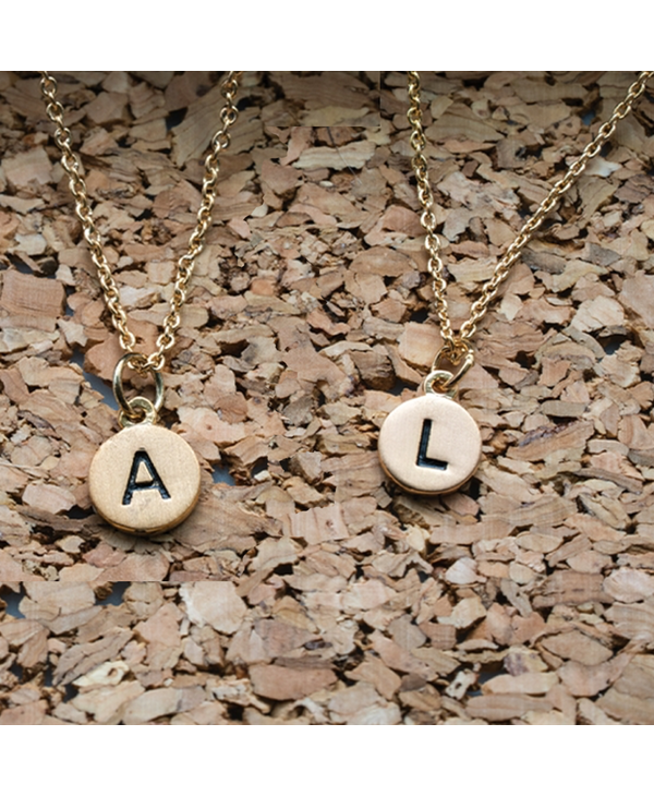 Dainty Disc Initial A Necklace