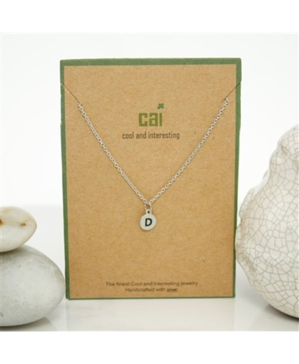 Dainty Disc Initial D Necklace