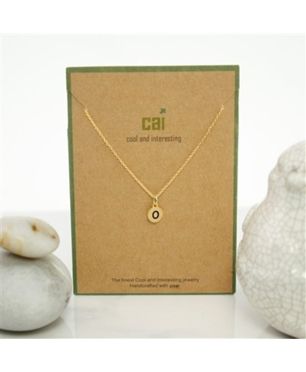 Dainty Disc Initial O Necklace