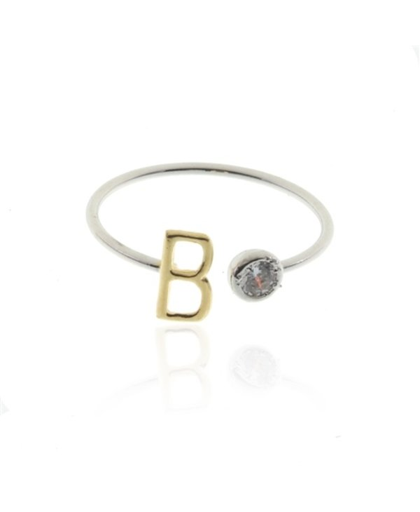 Two Tone Initial B Ring