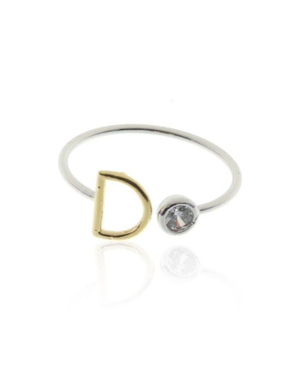 Two Tone Initial D Ring