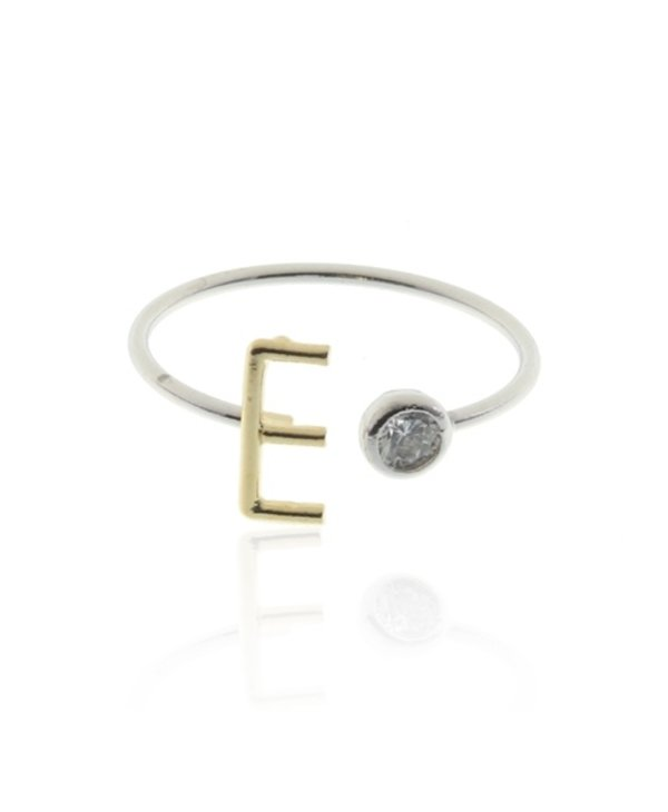 Two Tone Initial E Ring