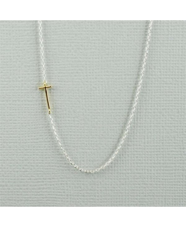 Two Tone Initial T Necklace