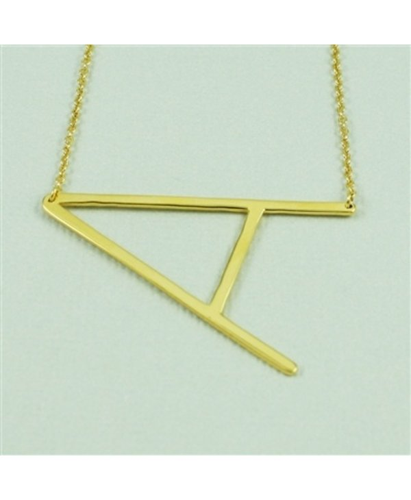 Large Initial A Necklace