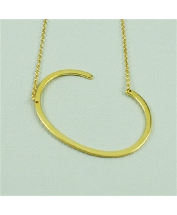 Large Initial C Necklace