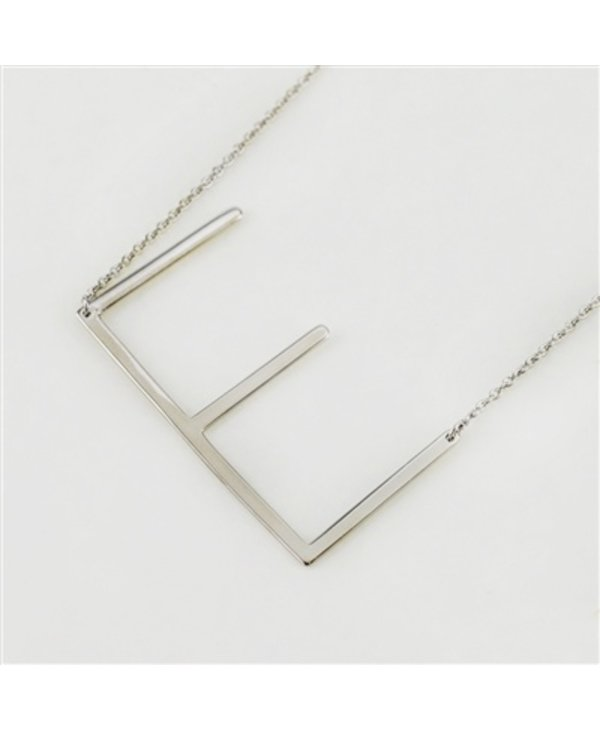 Large Initial E Necklace