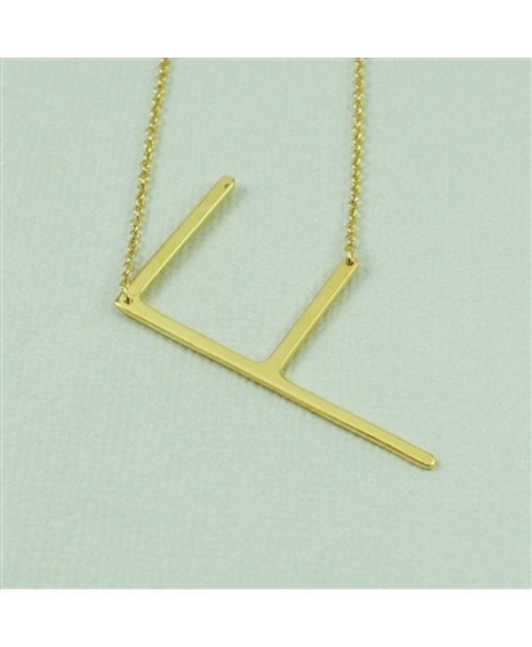 Large Initial F Necklace
