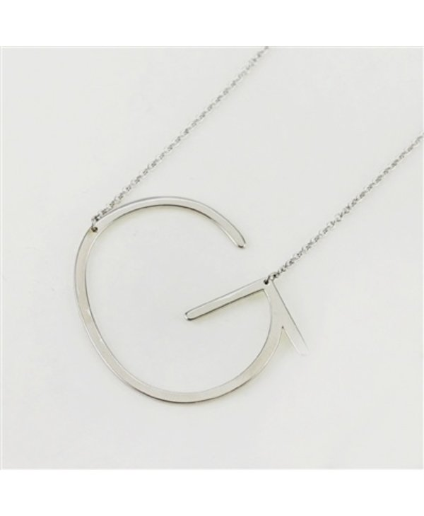 Large Initial G Necklace