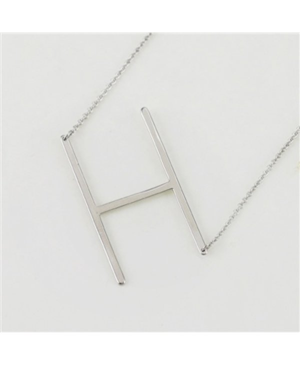 Large Initial H Necklace