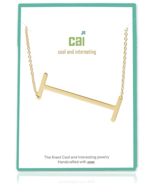 Large Initial I Necklace