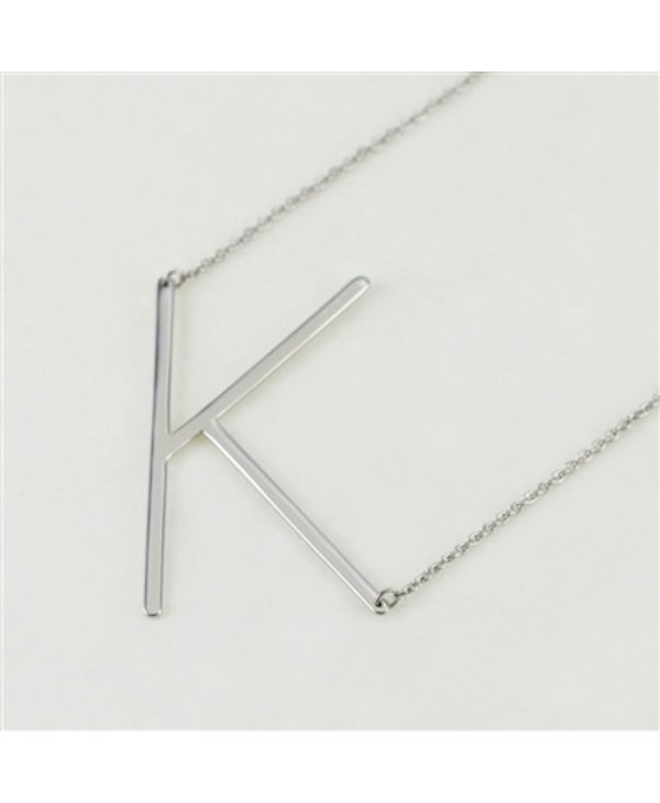 Large Initial K Necklace