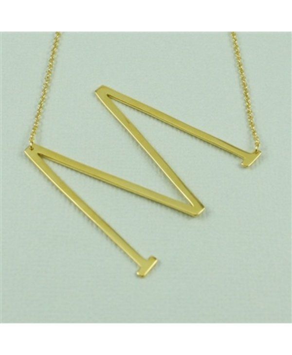 Large Initial M Necklace