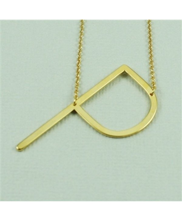 Large Initial P Necklace