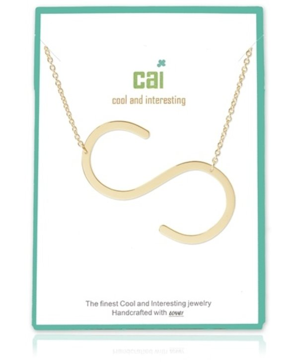 Large Initial S Necklace