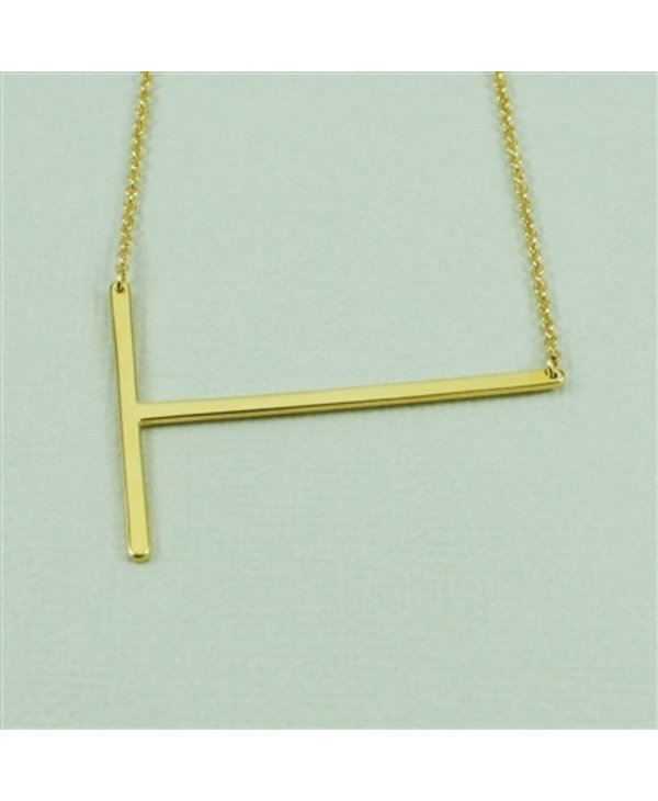 Large Initial T Necklace