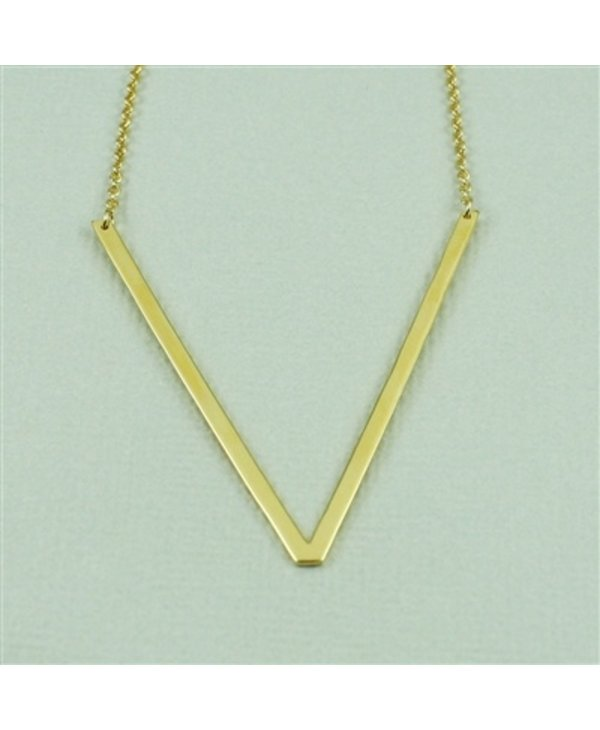 Large Initial V Necklace