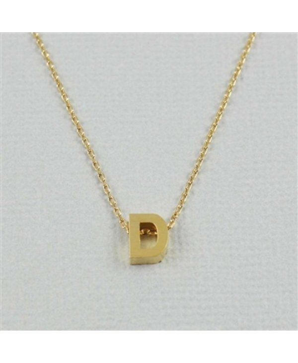Block Initial D Necklace