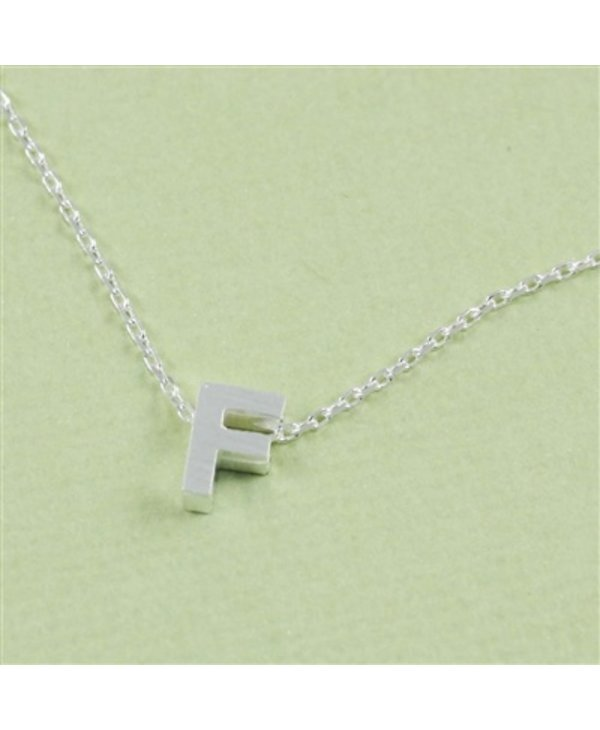 Block Initial F Necklace