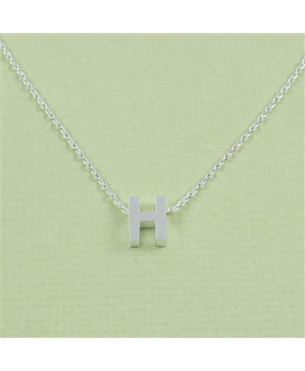 Block Initial H Necklace