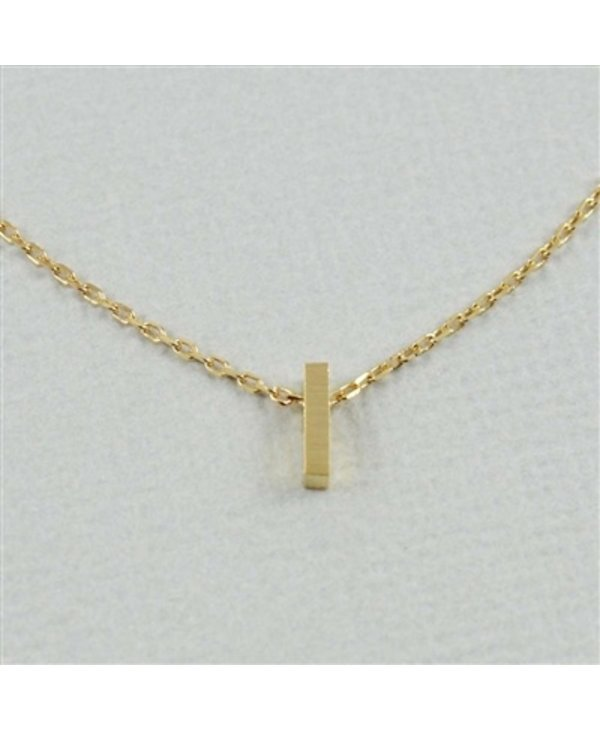 Block Initial I Necklace