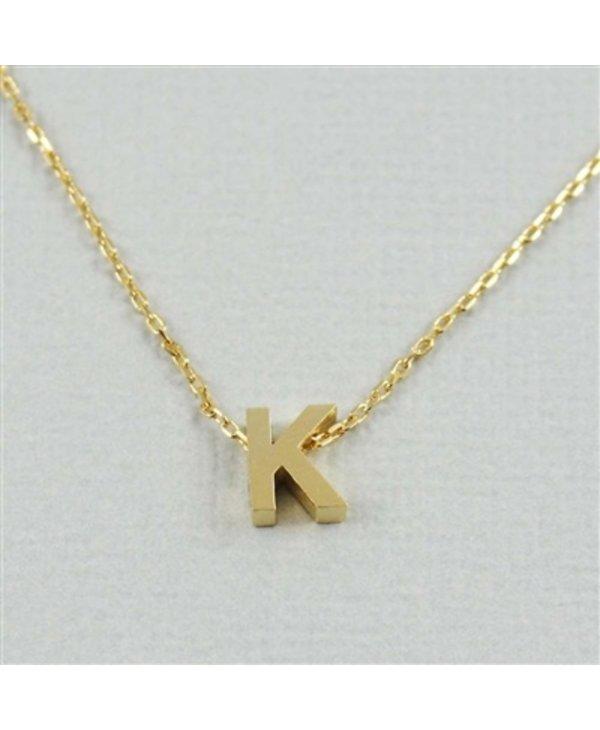 Block Initial K Necklace