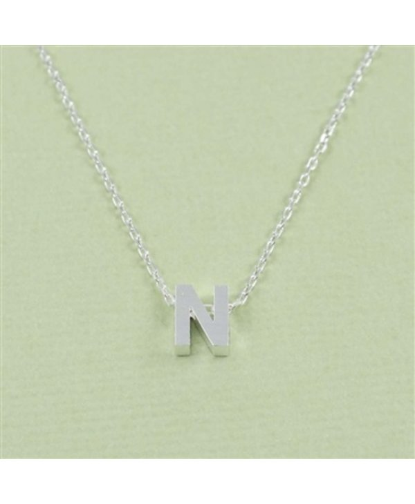 Block Initial N Necklace