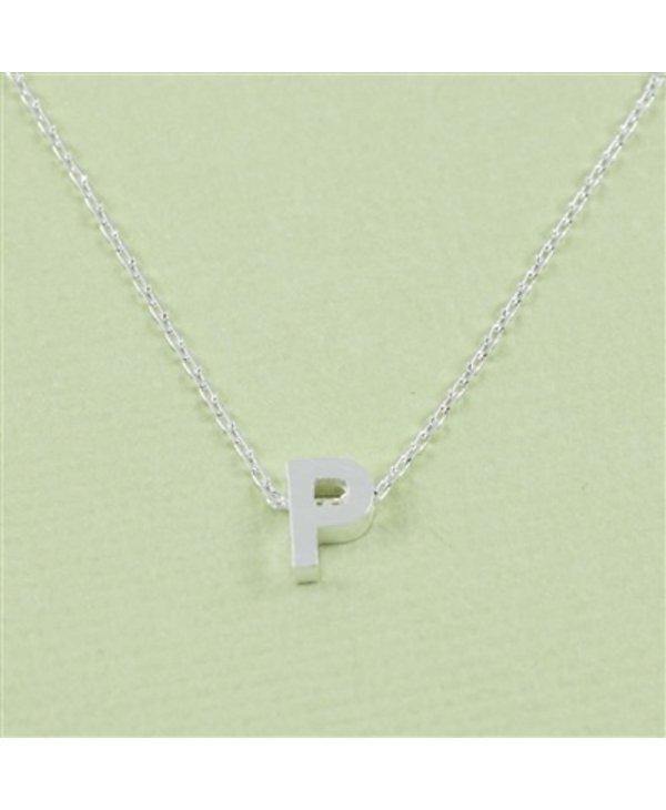 Block Initial P Necklace