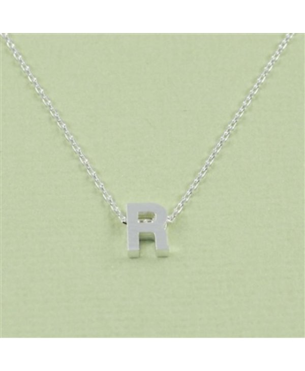Block Initial R Necklace
