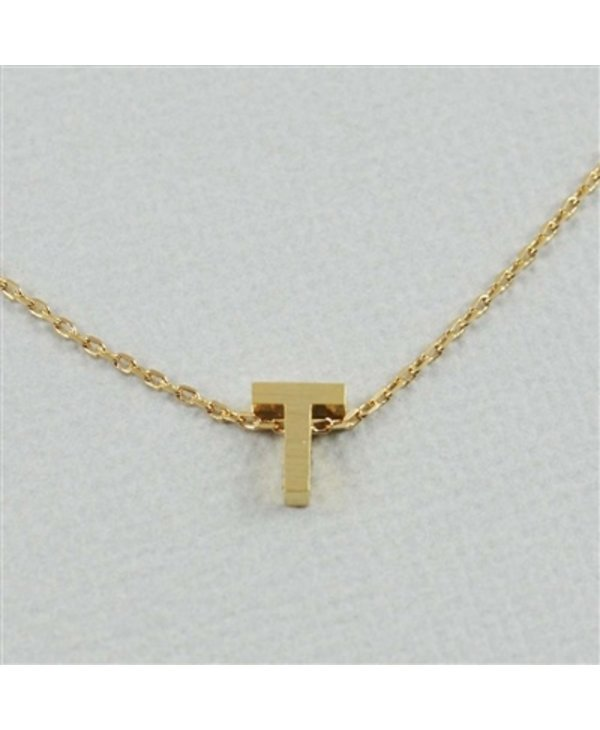 Block Initial T Necklace