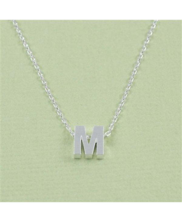 Block Initial M Necklace