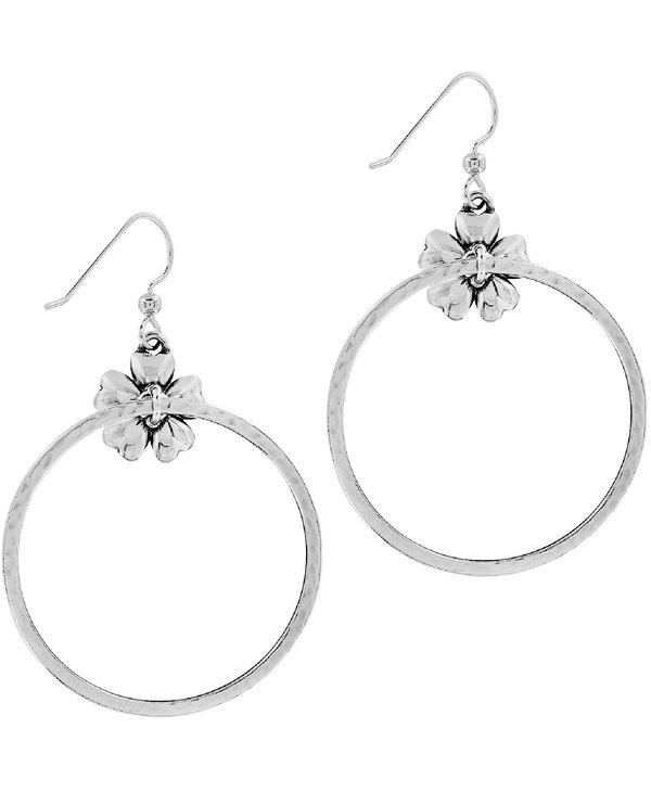 Flora French Wire Hoop Earrings