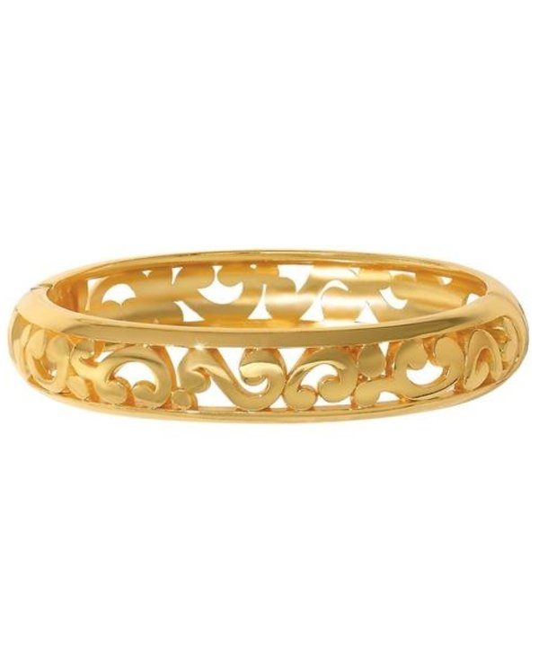 Contempo Medium Hinged Bangle in Gold