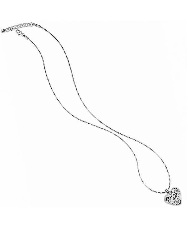 Contempo Heart Badge Clip Necklace