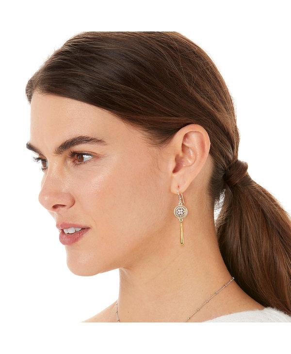Intrigue Teardrop French Wire Earrings