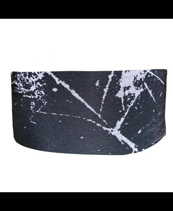 Black Marble Tube Turban