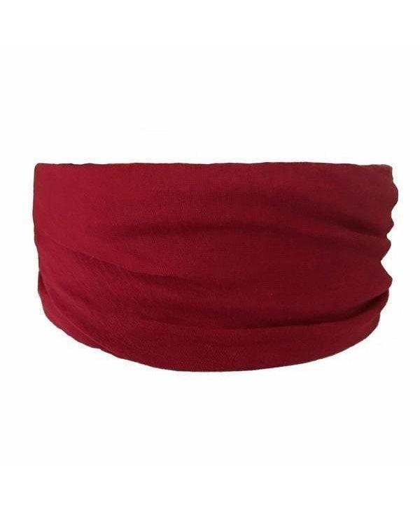 Burgundy Tube Turban