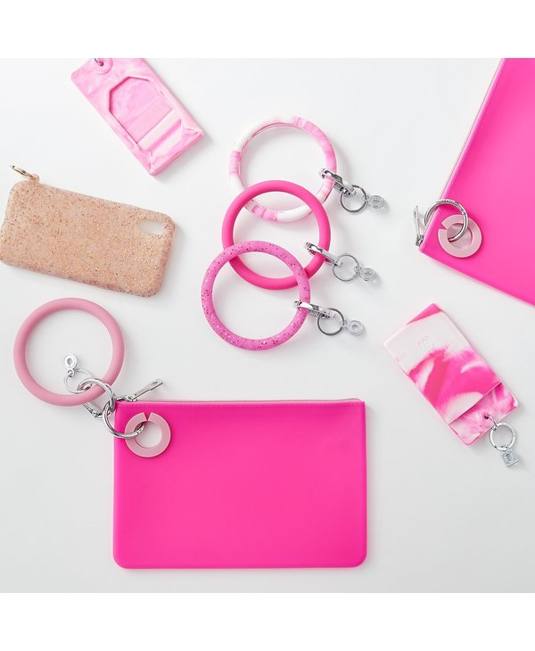 Silicone Big O Key Ring in Tickled Pink
