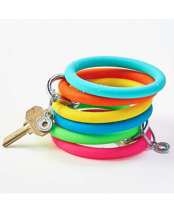 Silicone Big O Key Ring in Yes Yellow