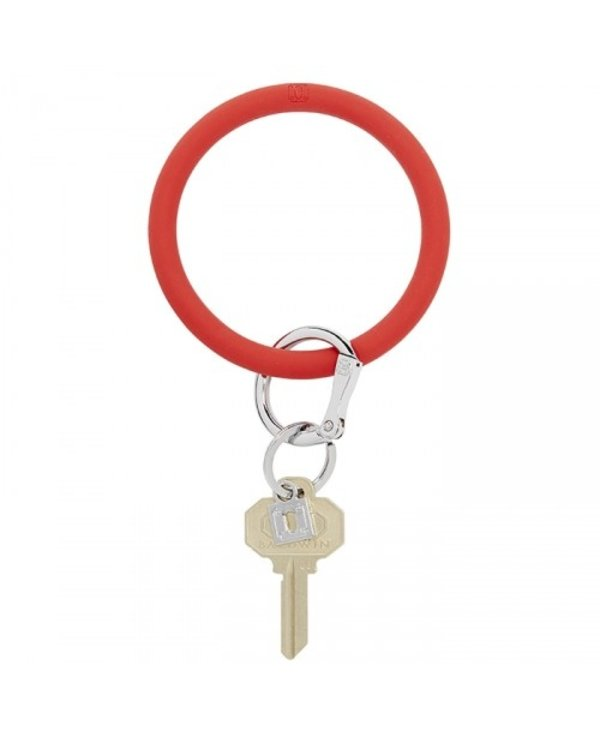Silicone Big O Key Ring in Cherry On Top