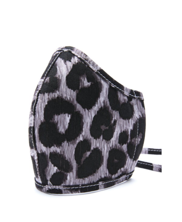 Leopard Hearts Pewter Mask