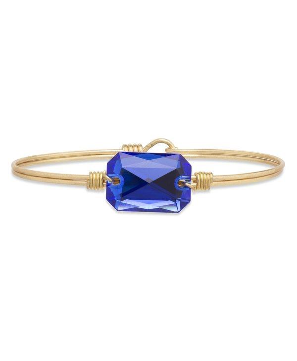 Dylan Bangle Bracelet Majestic Blue in Gold