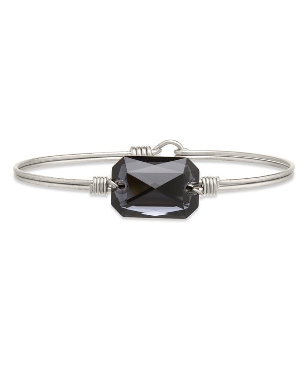 Dylan Bangle Bracelet Graphite in Silver