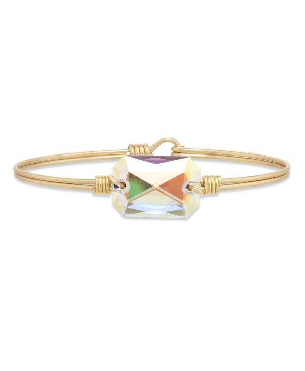 Dylan Bangle Bracelet Aurora Borealis in Gold