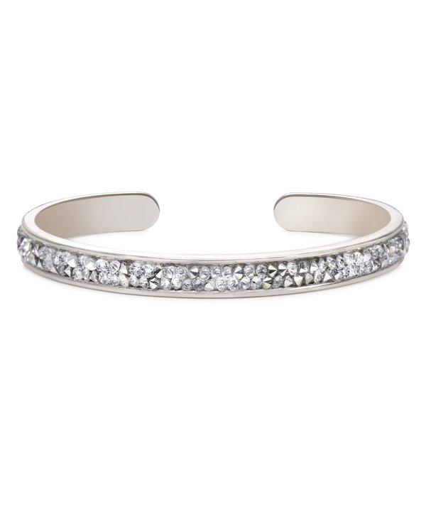 Druzy Channel Cuff  Metallic Silver in Silver
