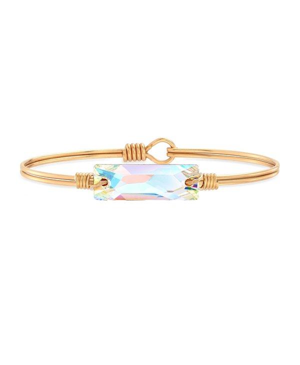 Hudson Bangle Bracelet Crystal AB in Gold
