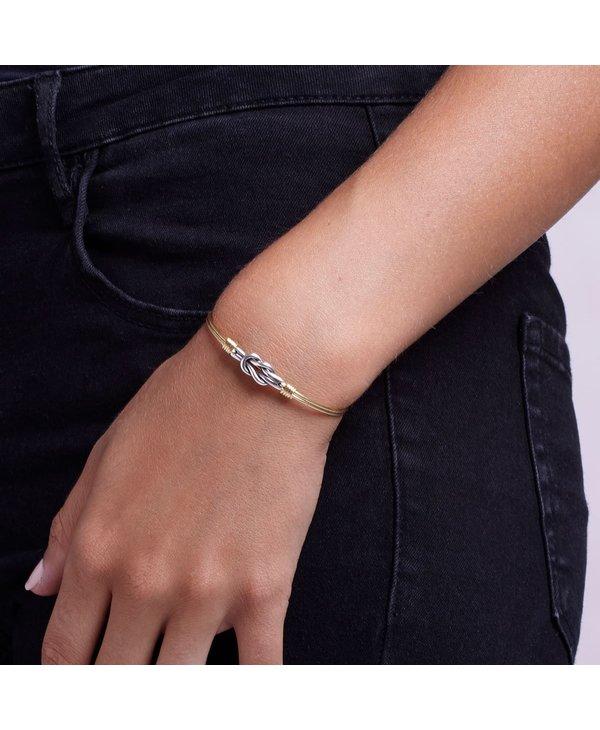 Love Knot Bangle Bracelet in Silver