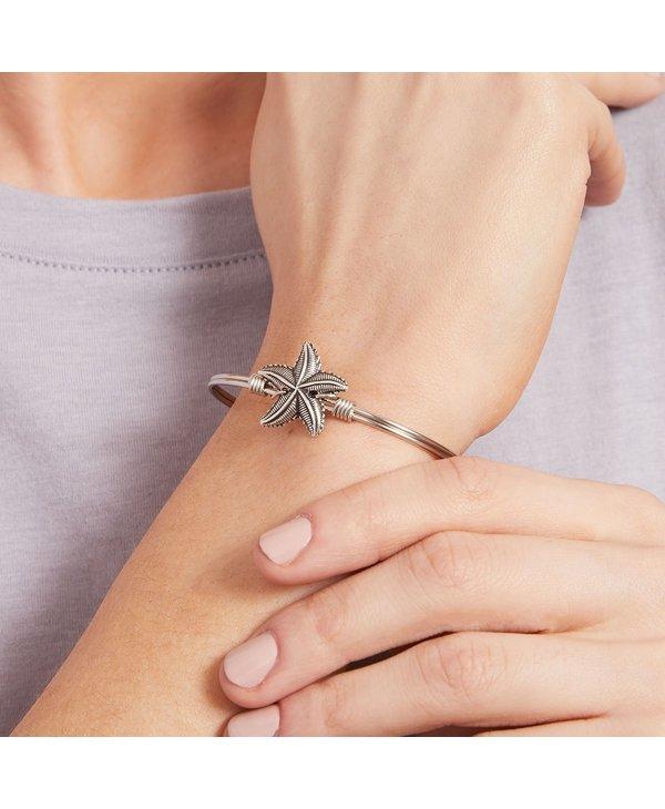 Starfish Bangle Bracelet in Silver