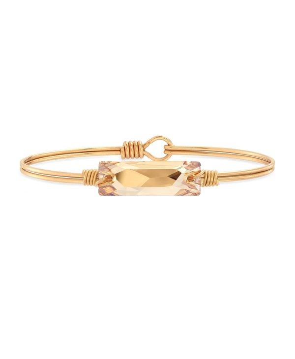 Hudson Bangle Bracelet Champagne in Gold